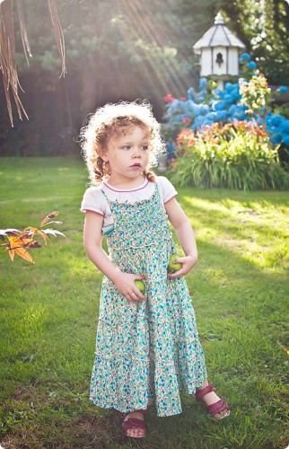 My daughter on holiday in a fairy garden!