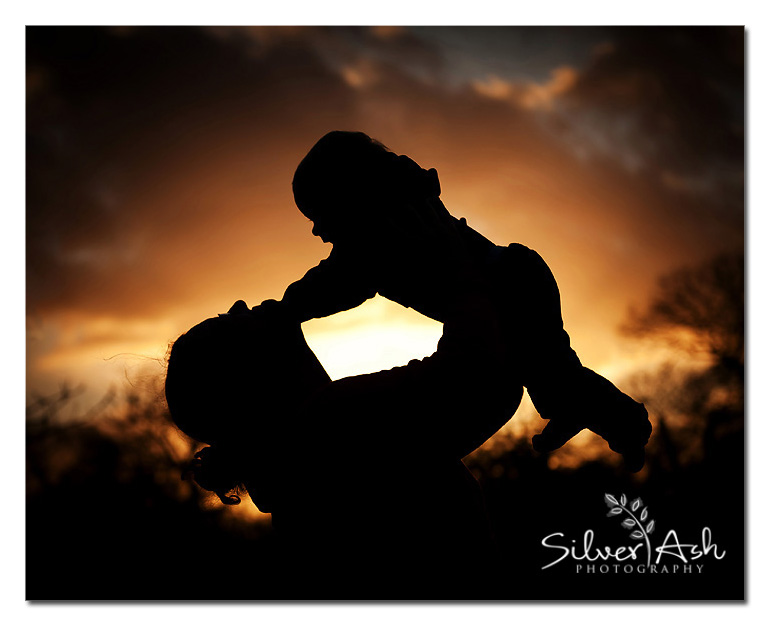 sunset and baby photography