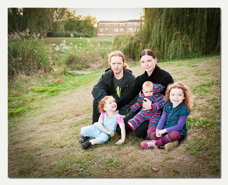 Back in Business-8.jpg - Rare family photo!  All is not as it seems - this is actually FOUR separate photos.  Even photographers' families don't all look in the right direction at once!  It's amazing what can be done with post-processing.